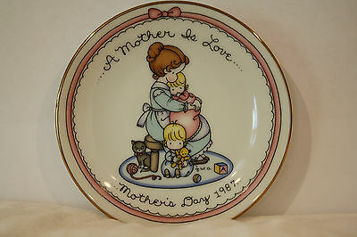 "A Mother is Love Joan Walsh Anglund 1987 Avon Collectible Plate 5"" Ceramic"