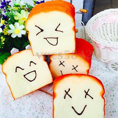 Smile Jumbo Squishy Cellphone Phone Charms Note Toast Holder Slow Rising Toy US