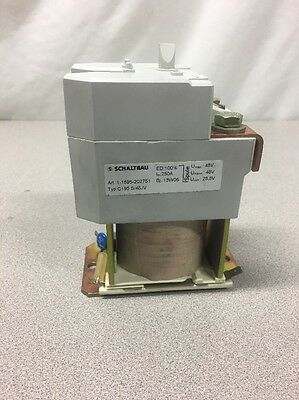 NEW! Schaltbau Series C195 Contactor 48V DC 250A at 50°C - C195 S/48JV