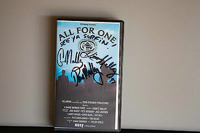 Malloy brother's SIGNED Vhs All For One 1997 poor specimen Billabong Surfing