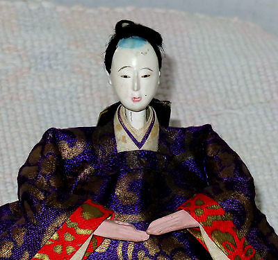 "Antique Japanese 4"" Dari-Bina Prince Male Hina Doll BH6 #AD4161415.8"