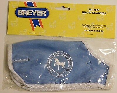 BREYER #2809 Show Blanket  Blue w/ White Embroidering & Border  NEW In Package