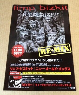 2002 Limp Bizkit Re-mix JAPAN album promo ad / mini poster advert japanese