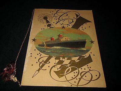 Ss United States-United States Lines-August 3, 1957 Gala Dinner Menu