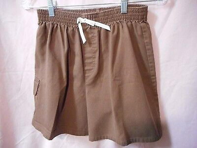 Brownie Girl Scout Shorts Size Large. Brown shorts with elastic around the waist