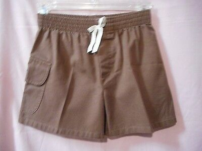 Brownie Girl Scout Shorts Size X-Small. Brown shorts with elastic around the wai