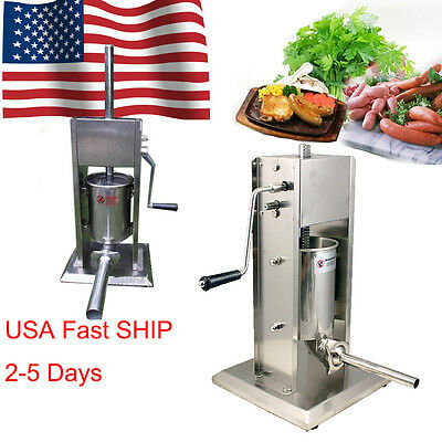 USA Sausage Stuffer Vertical 5L/11LB 11 Pound Meat Filler 304 Stainless Steel CE