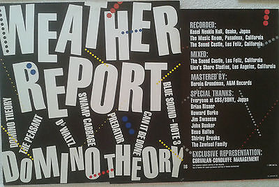 WEATHER REPORT - DOMINO THEORY - LP - 1984 - CBS - Holland / Dutch