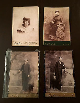 Cabinet Photographs ~ Lot of Four Adults ~ Group 6