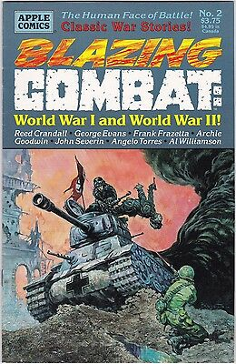 Blazing Combat : World War I and World War II #2  Apple 1994 Frank Frazetta ++