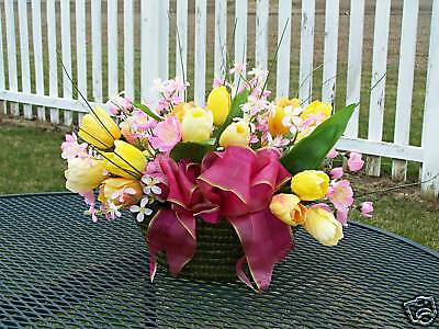 Nursing Home Silk Arrangements Basket Mothers Day Easter Birthday Get Well Soon