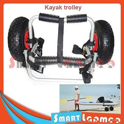 Aluminium Kayak Trolley Collapsible Canoe Cart Boat Foldable Carrier Wheel AU