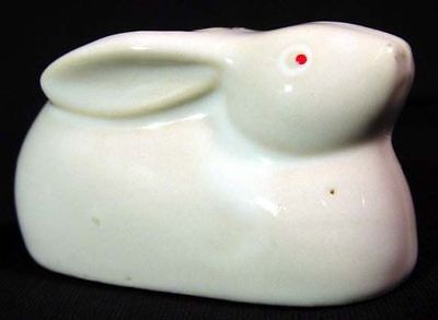Vintage Japanese Porcelain Rabbit Toothpick Holder
