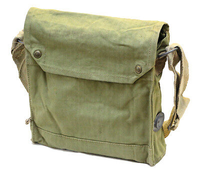 Original WWII British Mk VII Gas Mask Bag Indiana Jones Satchel