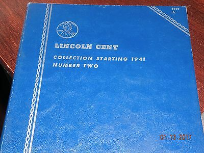 Lincoln Head Cent Collection 1941 -1972 with 82 Coins in Whitman Book