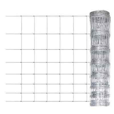 S# New 1x50m Galvanized Chain Mesh Fence Post Set Garden Fencing Wire Pet Chicke