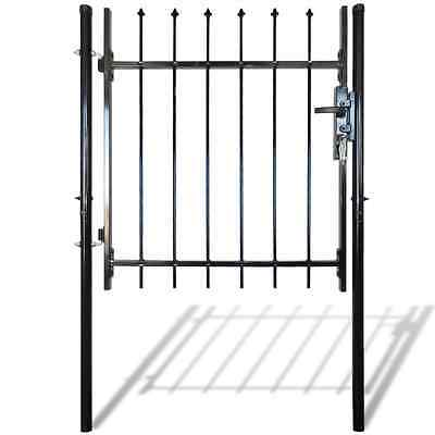 S# 141374 Single Door Fence Gate with Spear Top 100 x 100 cm - Untranslated