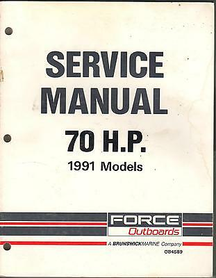 1991 Force Outboards 70 Hp Service Manual (837)