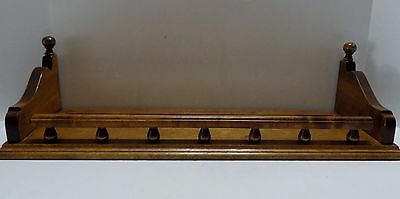"""Ethan Allen Wood Wall Shelf  Plate Groove  Signed  24"""" x 8""""  (R10-7)"""