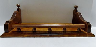 """Ethan Allen Wood Wall Shelf  Plate Groove  Signed  17.5"""""""" x 8""""  (R10-6)"""
