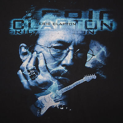 1998 Eric Clapton World Tour T-shirt Tee Cities on Back Size XL