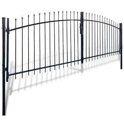 S# 141365 Double Door Fence Gate with Spear Top 400 x 175 cm  - Untranslated