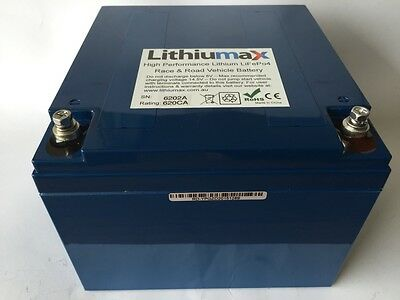 Lithiumax Blue BMS Series 620CCA Lithium Car or Boat Battery, LiFePo4, Ultralite