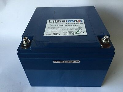 Lithiumax Blue BMS Series 720CCA Lithium Car or Boat Battery, LiFePo4, Ultralite