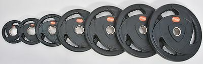 Olympic Weight Plates Rubber Tri-Grip Ergo Design Sold in Pairs