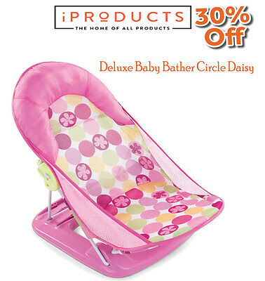 Summer Infant Deluxe Travel Baby Bather Splish Splash Bath Support Seat Chair