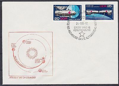 DDR FDC 1341 - 1342 mit SST Berlin Kosmos Landung 1968, first day cover