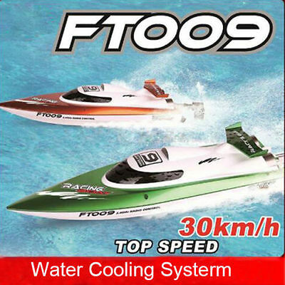 FT009 2.4G 4CH Water Cooling High Speed Remote Control Racing RC Boat Orange AU!