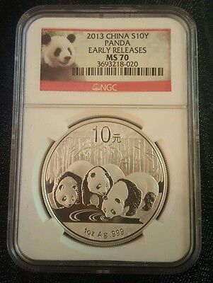 2013 China Silver Panda NGC MS70 Early Releases Perfect Coin