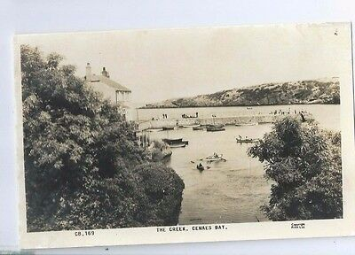 Postcard The Creek Cemaes Bay Anglesey Tregele Neuadd Llanbadrig RP
