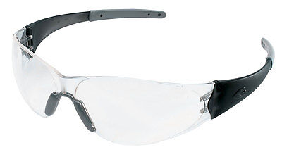 $7.99 Crews Checkmate 2 / Safety Glasses Black / Clear Free Shipping
