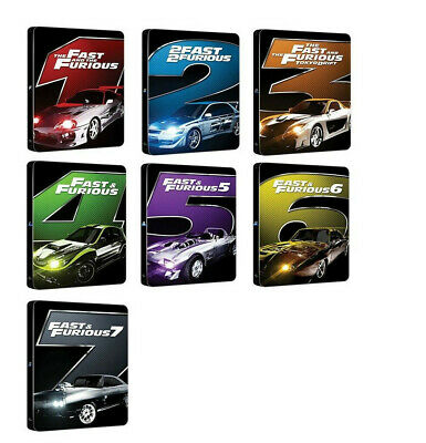 Fast And Furious Collection - Edizione Steelbook 2017 (7 Blu-Ray) Edizione Ita