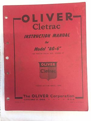 Oliver Cletrac AG6 Crawler Manual
