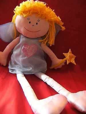 """Marks and Spencer large fairy rag doll 21"""" vgc"""