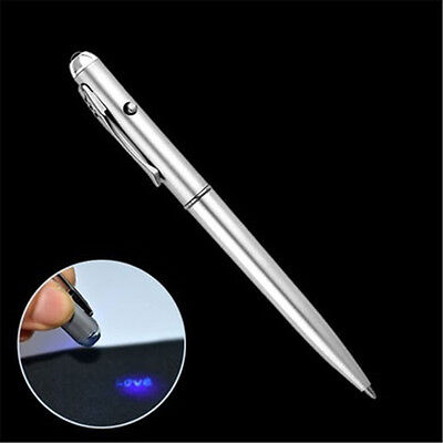 1Pc UV Light Pen Invisible Ink Marker Spy Pen Secret Message Security Stationery