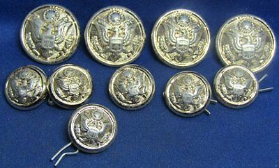 WWII British Made Army Dress Buttons Lot Of 10 by Luxenberg