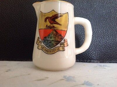 Grafton Crested China - Small Jug - Crest Of Bembridge