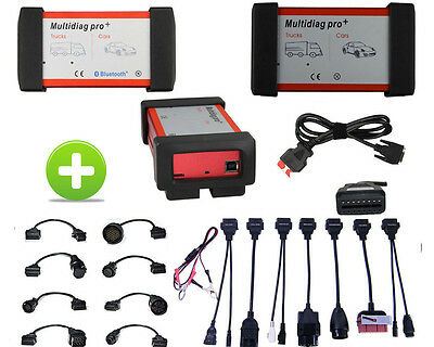 Diagnostic OBD2 Scanner+16 Car Truck Cables for AUTO AUDI VW BMW MB FORD OPEL BT