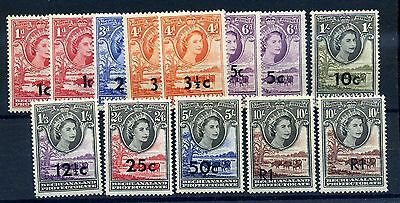 Bechuanaland protectorate 1961 surcharges selection inc 2 x R1  clean MNH