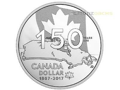 1 $ Special Proof Silver Dollar Home and our Native Land Kanada 2017 PP Silber