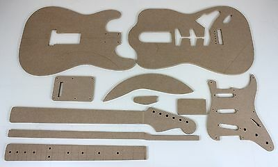Comprehensive Guitar Router Template Set 50's S-Style