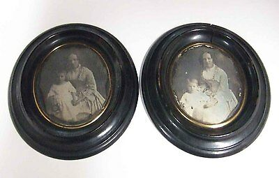Two Beautiful Framed French Daguerreotypes From Soissons