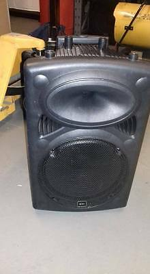 qx12a  Portable PA System  - on wheels - buskers / schools / church / dj