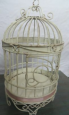 Vintage ORNATE Metal BIRD CAGE -HAND MADE- ARTISAN LOOK-REPRODUCTION