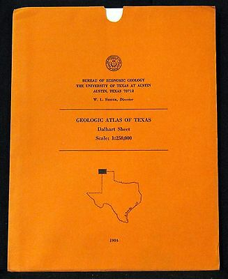 Geologic Atlas Of Texas/new Mexico Dalhart Sheet Scale 1:250,000 1984