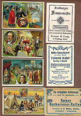 FAMOUS MEN: Collection of RARE Victorian Trade Cards from GERMANY (1899)N